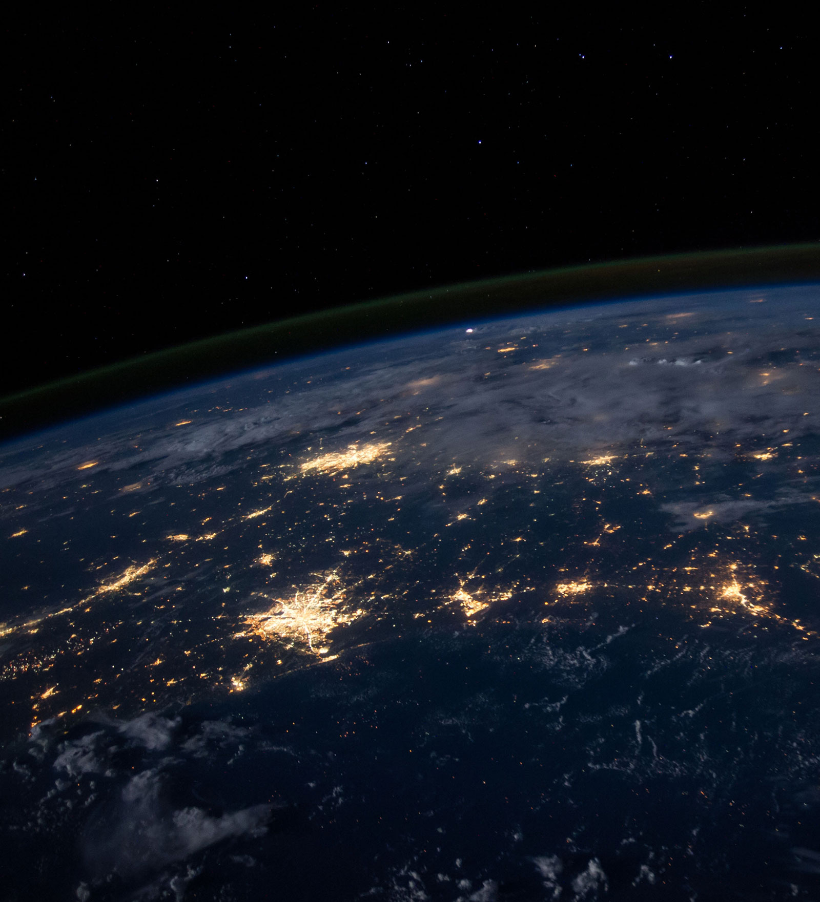 Picture of the World with lights showing amiea ditributors