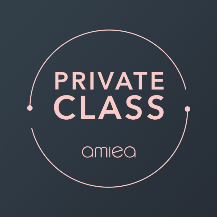 Icon for amiea private class on a dark grey background