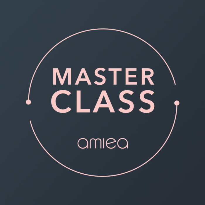 Icon for amiea master class on a dark grey background