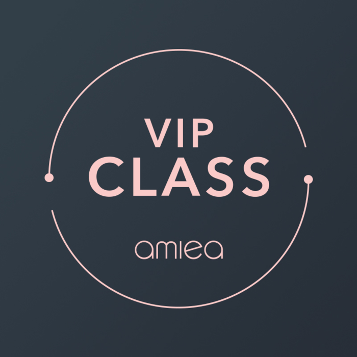 Icon for amiea VIP class on a dark grey background