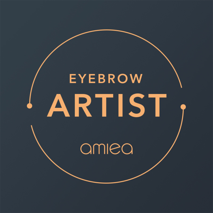 Icon for amiea eyebrow artist level 1 on a dark grey background