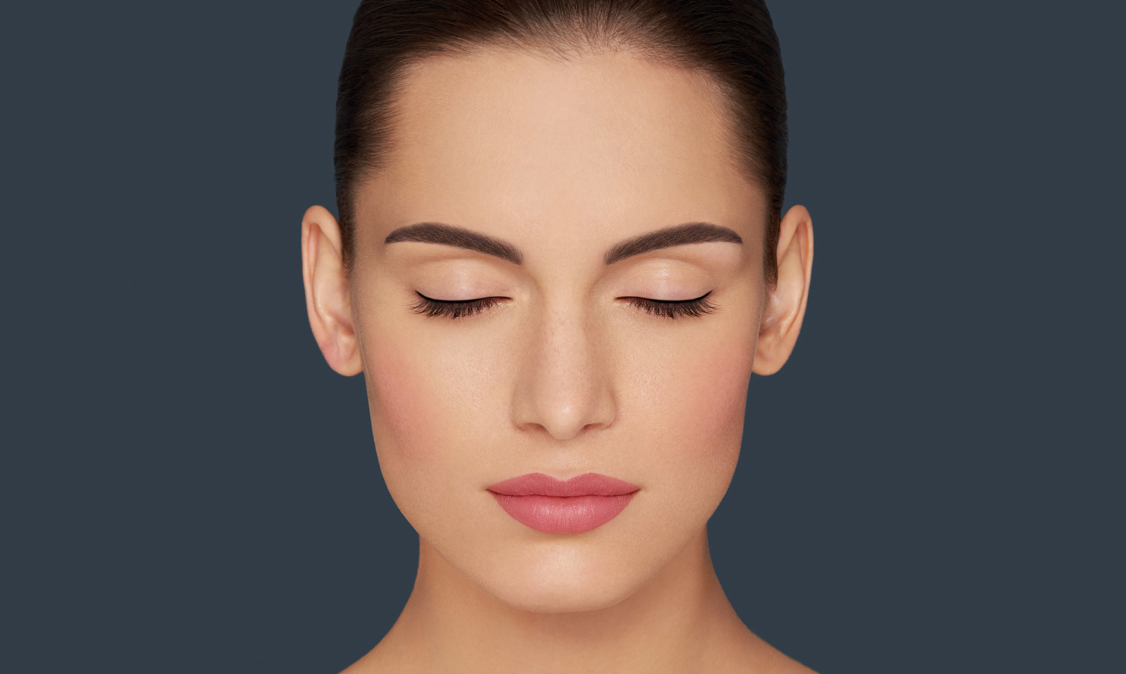 Woman after a Permanent Makeup treatment